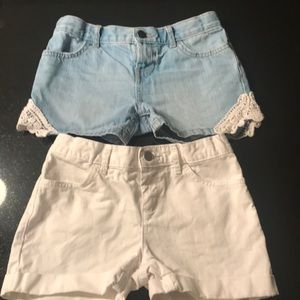 Girls size 8 shorts, 12$ for both